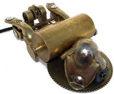 Steampunk-computer-mouse